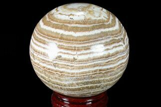 "3.5"" Polished, Banded Aragonite Sphere - Morocco For Sale, #82283"