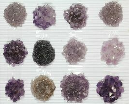 "Wholesale Lot: Amethyst & Quartz ""Rosettes"" - 12 Pieces For Sale, #82601"