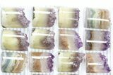Lot: Amethyst Half Cylinder (For Pendants) - 24 Pieces - #83430-2