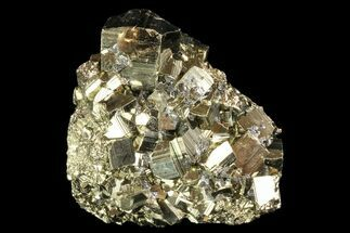 "Buy 2.7"" Gleaming, Pyritohedral Pyrite Cluster - Peru - #84808"