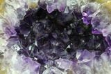 "Unique, 9.3"" Deep Purple Amethyst Geode - Uruguay - #87444-3"