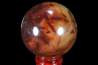 "Buy 3"" Colorful Carnelian Agate Sphere - Madagascar - #87691"