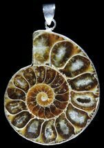 Buy Fossil Ammonite Pendant - 110 Million Years Old - #89821