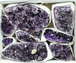 Wholesale Lot: Uruguay Amethyst Clusters (Grade B) - 9 Pieces For Sale, #90137