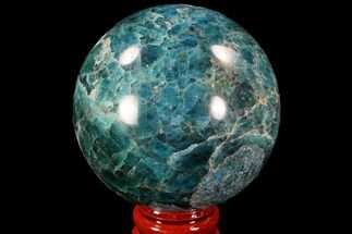 "Bargain, 2.3"" Bright Blue Apatite Sphere - Madagascar For Sale, #90194"
