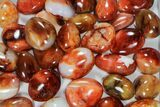 Wholesale Lot: Polished Carnelian Pebbles - 5 kg (11 lbs) - #91452-2