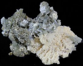 Barite, Quartz, Pyrite & Chalcopyrite - Fossils For Sale - #42216