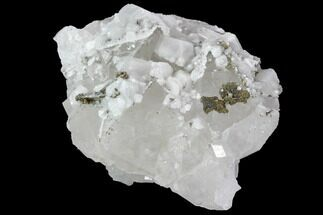 Quartz, Pyrite & Calcite - Fossils For Sale - #92256
