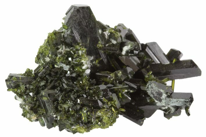 "Lustrous 1.8"" Epidote Crystal Cluster - Pakistan"