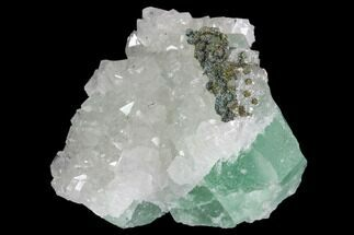 Quartz, Fluorite & Pyrite - Fossils For Sale - #92274