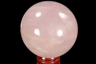 "2.3"" Polished Rose Quartz Sphere - Madagascar For Sale, #93008"