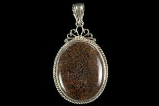Buy Polished Fossil Dinosaur Bone (Gembone) Pendant - #93295