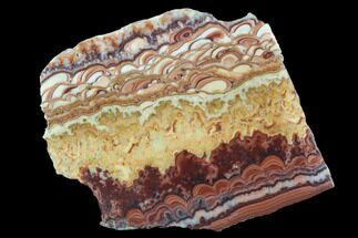 "4.2"" Polished Slab Of Rolling Hills Dolomite - Mexico For Sale, #93620"