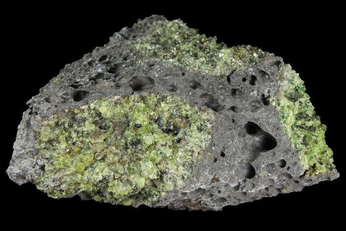 "3.7"" Peridot in Basalt - Arizona"