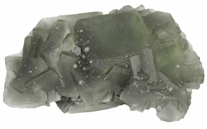 "6.3"" Green Fluorite Crystal Cluster - China"