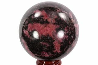 "Beautiful, 2.3"" Rhodonite Sphere - Madagascar For Sale, #95042"