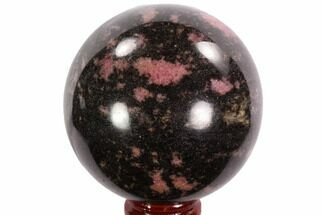 "Buy 2.5"" Polished Rhodonite Sphere - Madagascar - #95044"