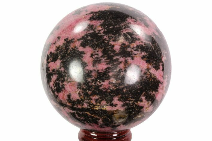 "Beautiful, 2.8"" Rhodonite Sphere - Madagascar"