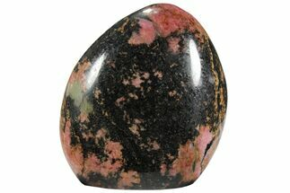Rhodonite with Manganese Oxide - Fossils For Sale - #95709