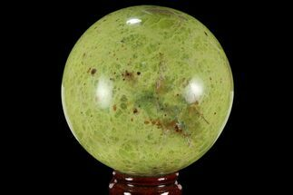 "3.6"" Polished Green Opal Sphere - Madagascar For Sale, #95879"