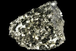 "3.4"" Gleaming Pyrite Crystal Cluster - Peru For Sale, #94361"