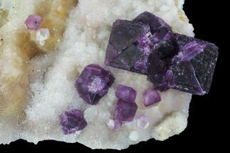 "4.7"" Dark Purple Cubic Fluorite on Druzy Quartz - China For Sale, #94316"