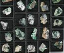 Wholesale Flat: Green, Fluorescent Rogerley Fluorite - 37 Pieces - #96996-2