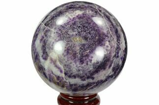 "3.6"" Polished Chevron Amethyst Sphere - Morocco For Sale, #97703"
