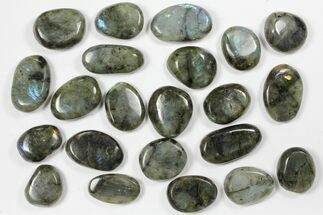 Buy Lot: Polished Labradorite Pebbles - 1 kg (2.2 lbs) - #90541