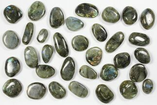Buy Lot: Polished Labradorite Pebbles - 1 kg (2.2 lbs) - #90616