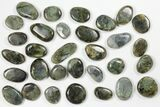 Lot: Polished Labradorite Pebbles - 1 kg (2.2 lbs) - #90627-2