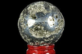 "Buy 2.5"" Polished Pyrite Sphere - Peru - #98008"