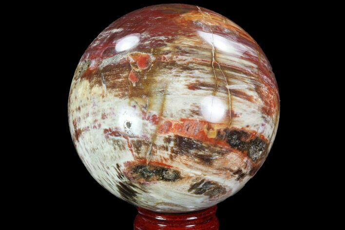 "3.8"" Colorful, Petrified Wood Sphere - Madagascar"
