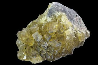 "3.1"" Yellow, Cubic Fluorite Crystal Cluster - Spain For Sale, #98693"