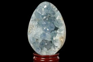 "4.3"" Crystal Filled Celestite ""Egg"" Geode - Madagascar For Sale, #98771"