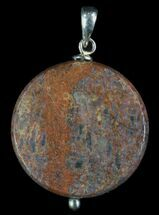 Buy Polished Fossil Dinosaur Bone (Gembone) Pendant - #93337