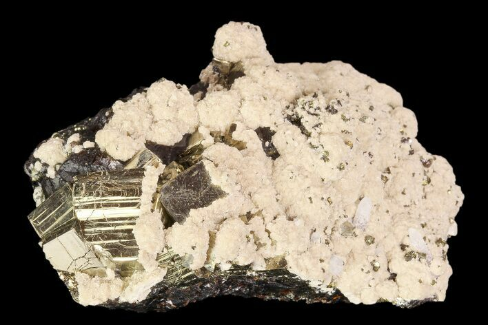 "2.9"" Cubic Pyrite, Barite and Sphalerite Association - Peru"