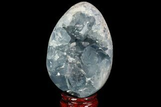 "Buy 3.9"" Crystal Filled Celestine (Celestite) ""Egg"" Geode - Madagascar - #100057"