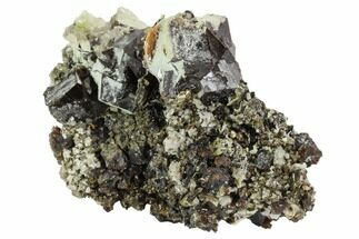 "3"" Garnet Cluster with Calcite, Mica & Feldspar - Pakistan For Sale, #100427"