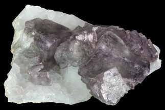"Buy 3.8"" Purple Fluorite Crystals on Druzy Quartz - China - #100726"