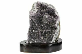 "Buy 5.1"" Tall, Purple Amethyst Cluster On Wood Base - Uruguay - #101452"