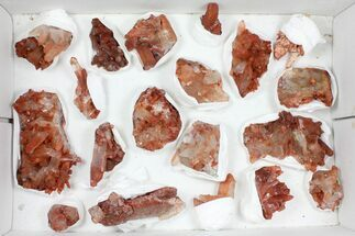 Buy Wholesale Lot: Natural Red Quartz Crystal Clusters - 20 Pieces - #101500