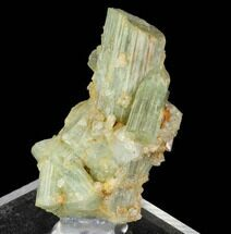 Blue-Green Beryl Crystal Cluster with Topaz - Transbaikalia, Russia For Sale, #97682