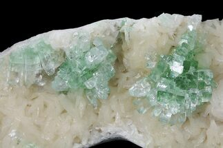 "Buy 5.4"" Green Apophyllite Flowers on Peach Stilbite - India - #102343"