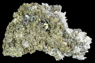 Pyrite, Galena & Quartz - Fossils For Sale - #102576