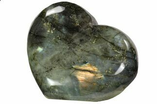 "Buy 4.2"" Flashy Polished Labradorite Heart - #62941"