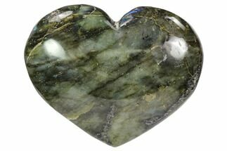 "Buy 3.8"" Flashy Polished Labradorite Heart - #62956"