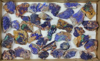 Buy Wholesale Lot: Azurite & Malachite Clusters - 36 Pieces - #103624