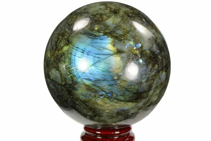 "3.7"" Flashy, Polished Labradorite Sphere - Great Color Play"