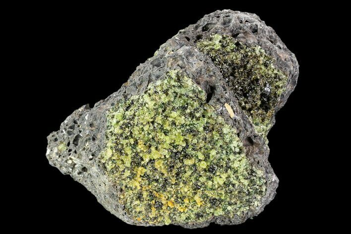 "4.4"" Peridot in Basalt - Arizona"